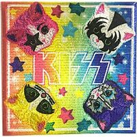 KISS - KITTENS - EMBROIDERED PATCH - BRAND NEW - MUSIC BAND 4637