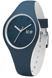Ice-Watch ICE 001487 Duo Atlantic Small Damenuhr neu Silikon Uhr blau weiß K16