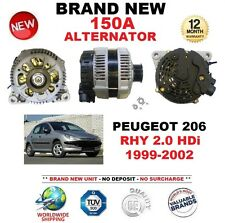 FOR PEUGEOT 206 RHY 2.0 HDi 1999-2002 150A ALTERNATOR BRAND NEW OE QUALITY