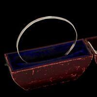 Antique Vintage Art Deco Mid Century Sterling Silver Modernist Bangle Bracelet