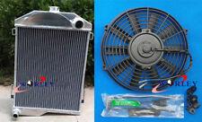 3 core aluminum radiator & fan for AUSTIN HEALEY 3000 1959-1967 manual MT