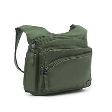New Lug Travel SIDEKICK Cross-body Bag  RFID Protection OLIVE GREEN Lightweight