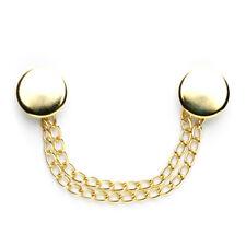 Plain Cloak Chain: 130mm: Gold