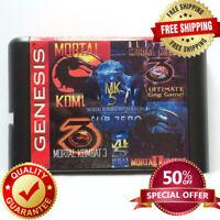 Mortal Kombat 5 in 1 Sega Genesis Game Cartridge Marvel 16 Bit Ultimate New Mega