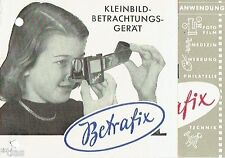 VEB Funkwerk Erfurt piccoli immagine dispositivo di visione betrafix prospetto DDR 1954