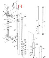 HARLEY DAVIDSON FXR FRONT FORK UPPER TRIPLE CLAMP BRACKET COVER (NOS) 45750-87