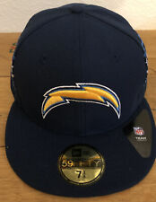 New Era San Diego Super Chargers Los Angeles Mens Fitted Hat Size 7 3/8