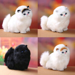 Simulation Realistic Persian Cat Kids Animals Stuffed Plush Toy Fluffy Doll UK
