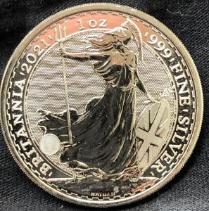 """2021 Great Britain 2 Pounds Britannia 1 oz Silver .9999 Fine Coin Brilliant UNC"""""""
