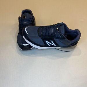 New Balance 990v5 Made In Usa Womens 9 Blue/Silver reflective running shoe EUC