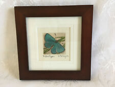S. Fullingim Blue Copper 10/50 Watercolor Miniature Painting Butterfly