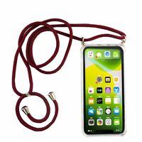 Apple iPhone 11 Handykette Hülle mit Band Case zum umhängen mit Kordel Etui Rot