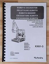 Ersatzteilliste / Stückliste / Teileliste für Kubota KX61-3 Minibagger