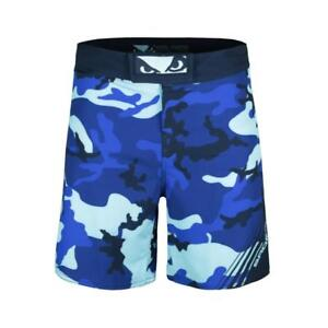 Bad Boy MMA Soldier Forest Blue Camo Shorts Training Fight Gym Martial Arts
