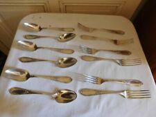 Durousseau  8 fourchettes et 8 cuillères de table art nouveau métal argenté