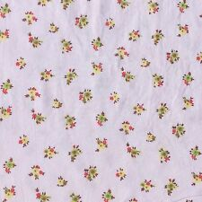 Retro Floral Brushed Back Cotton Twill Fabric Floral Craft Sewing NOS