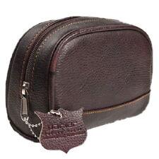 NTS-Solingen Parker Leder-Kulturtasche für Herren Kulturbeutel hochwertig KLEIN