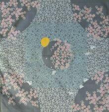 Full Moon & Rabbits Light Grey Japanese Cotton Furoshiki Wrapping Cloth