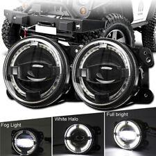 4inch Round LED Fog Lights 30W Halo Angel Eye DRL For 2007-2017 Jeep Wrangler JK