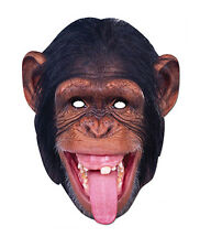 Chimpanzee ANIMALE 2D Maschera Di Cartone FESTE COSTUME TRAVESTIMENTO Zoo