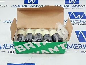 Bryant Hubbell 7464N Midget Locking Plug 15A 2P 2W 125V Box of 10