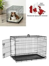 AmazonBasics Single Door Folding Metal Cage Crate For Dog or Puppy