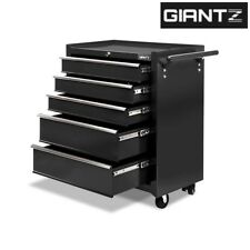 Giantz 5 Drawer Mechanic Tool Box Chest Cabinet Toolbox Roller Cabinet - Black