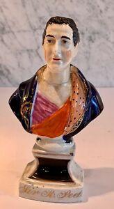 Staffordshire Portrait Bust Sir Robert Peel (1788-1850) Politician 19thC