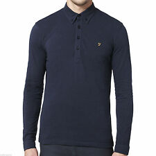 Men's Slim Long Sleeve No Pattern Polo Casual Shirts & Tops