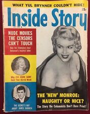 INSIDE STORY Expose Magazine July 1960 Marilyn Monroe James Darren Eva Marie St.