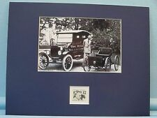 Henry Ford develops the Quadricycle and the Model T honored by his own stamp