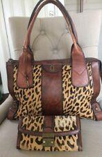 Fossil VRI Vintage Reissue Leopard Pony Hair & Leather Handbag/Satchel & Wallet