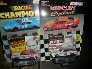 2 LOT 1/64 Scale Racing Champions Mercury Cyclone & Talladega CALE YARBOROUGH