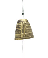Japanese Windchimes Furin Antique Gold Temple Bell Iwachu Cast Iron/Made  Japan