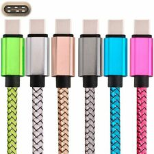Fabric Braided Strong USB-C USB Type C Data Charger Cable for Various Phones