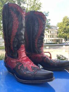 Primeboots Lederstiefel Gr. 42 Herren Cowboy Python Leder Stiefel Schuhe