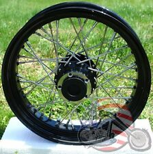 16 x 3.5 Rear 40 Spoke Black Rim Hub 40 Spoke Wheel Timken 3/4 Harley XL FXST