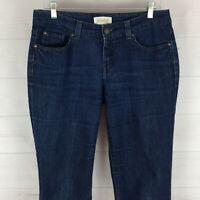 Covington womens size 8 stretch dark wash mid rise slim straight denim jeans EUC