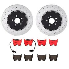 NEW Front Left & Right Brembo Brake Discs and Pad Set for Audi RS4 2007-2008