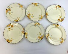 Stunning Set Of 6 Crown Ducal Sunburst Plates | 10 Inches | Vintage Kitchenware