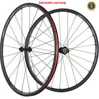 700C Carbon Wheels 24mm Depth 23mm Clincher Carbon Race Cycle Wheelset 3k Matte