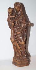 alte Holz Madonna mit Kind  handgeschnitzt Holzfigur