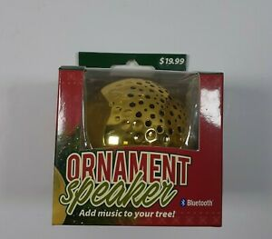 Solaray Goldtone Ornament Bluetooth 4.2 Wireless Speaker Christmas Tree Decor