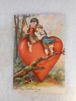 Vintage Embossed Valentine Postcard To My Valentine