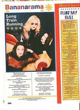 "BANANARAMA Long Train Running lyrics  magazine PHOTO / Pin Up / Poster 11x8"""