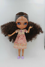 Blythe Nude Doll from Factory451 Dark Skin Face+Azone L Body - Special Offer