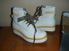 Caterpillar High Hopes Womens Leather Boots - white - P307539 size 8 US