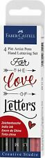 """Faber Castell """"Love and Letters Pitt"""" Hand-Lettering Pen (Pack of 4)"""