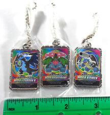 Pokemon XY Metal Gashapon Keychain LOT of 3 Mega Charizard X Venusaur Blastoise
