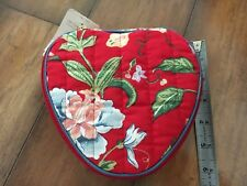 Vintage Celebrity Heart-Shaped Zippered Cosmetic/Jewelry Case•Nwt!•Hinshaw'S Tag